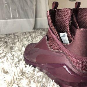 puma fierce krm red plum sneakers